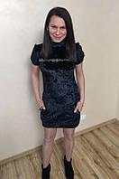 Женское бархотное платье черного цвета 42р