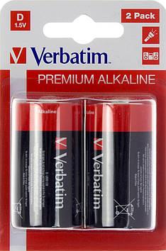 Батарейки Verbatim Premium LR-20/блістер 2шт(10)