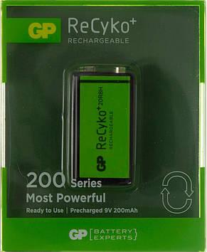 Акумулятор GP NіMH 20R8HE-2GBE1 New desing (6LR61,200mAh)/блістер 1шт