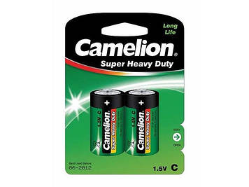 Батарейки Camelion green R-14/блістер 2шт (6)(144)