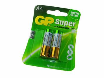 Батарейки GP Super GP15A-2UE2 LR-06/блістер 2шт (10)(80)