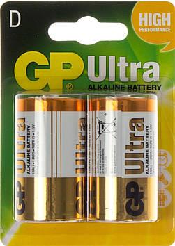 Батарейки GP Ultra 13AU-U2 LR-20/блістер 2шт (10)(80)