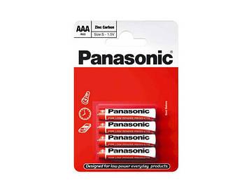 Батарейки Panasonic zinc carbon R-03/блістер 4шт (12)(60)