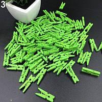 Декоративные  мини прищепки зеленые
