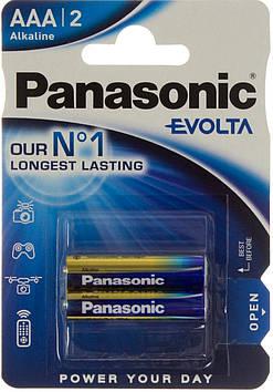 Батарейки Panasonic Alkaline Evolta LR-03/блістер 2шт (12)(60)