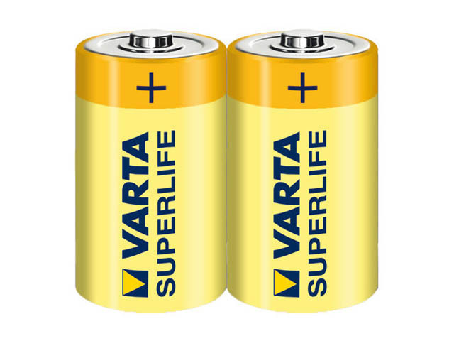 Батарейки Varta Superlife R-14/блістер 2шт (12)(60)
