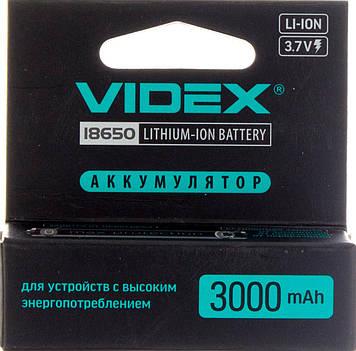 Акумулятор Videx Li-ion 18650-R,3000mAh,захист