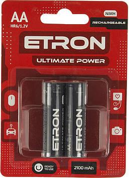 Акумулятори Etron Ultimate Power ready Ni-Mh (R-06,2100 mAh)/блістер 2шт(12)