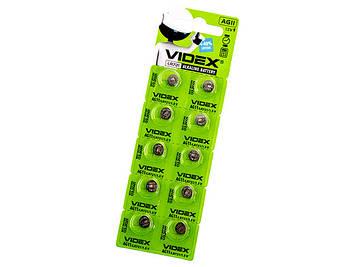 Батарейка Videx AG11/10bl(LR721)(2)(10)(100)