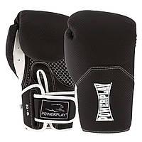 Боксерські рукавиці PowerPlay 3011 карбон 10 унцій Чорно-Білі PP301110ozBl White, КОД: 1138614