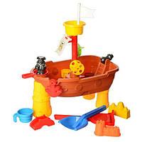 Столик-песочница Корабль 52.5 х 31.5 х 58 см Коричневый, КОД: 1280186