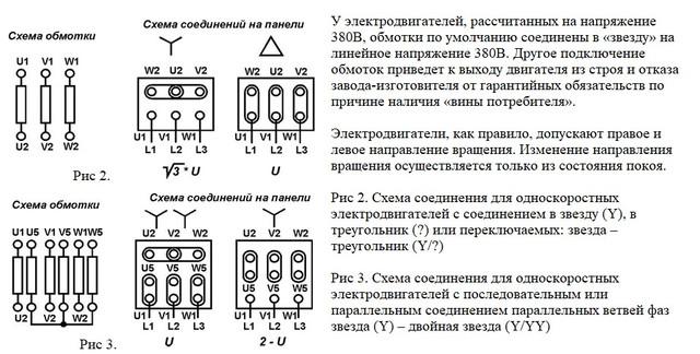 Схема подключения Трехфазного Электромотора АИР 80 A4