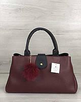 Молодежная сумка Welassie Альба Бордовая с черным (65-54810)