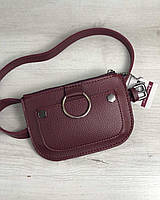 Женская сумка на пояс Welassie Кэти Бордовая (65-99207)