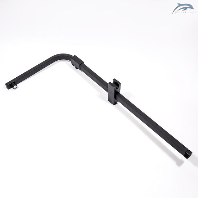 Передвижной держатель лейки ручного душа для душевого гарнитура WEMI SB-02 с нажимным механизмом для фиксации, термопластовый.
