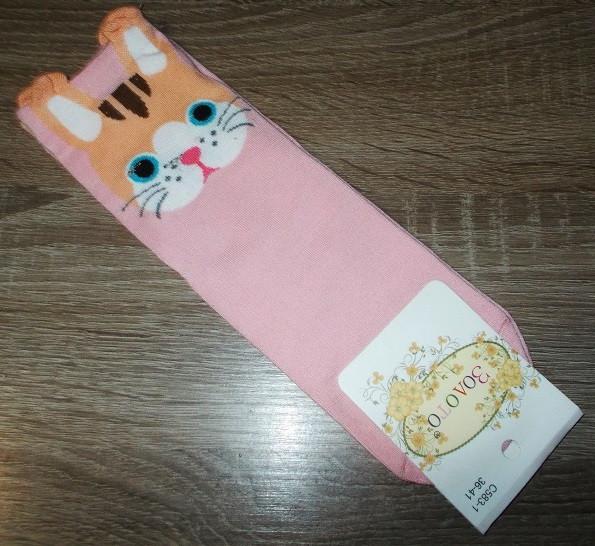 Носки женские с ушкми 583-1 размер 36-41 розовые