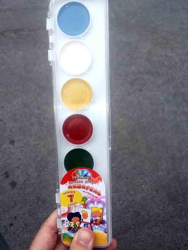 Краски акварельные Гамма 7цв пластик 312040