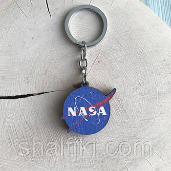 """""""НАСА / NASA"""" брелок деревянный двухсторонний с уф-печатью"""