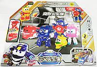 Роботы поезда игрушки трансформеры набор фигурок  5 шт robot trains в большой подарочной упаковке 50 см