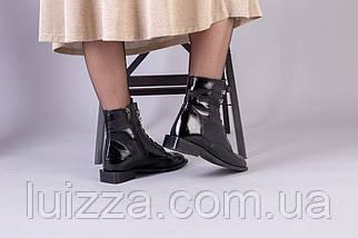 Демисезонные черные ботинки кожа наплак, фото 3
