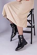 Демисезонные черные ботинки кожа наплак, фото 2