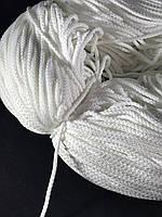 Шнур круглый для масок 3 мм цвет белый (не тянется)