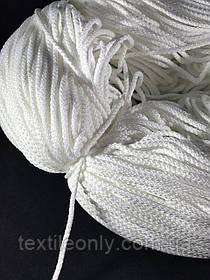 Шнур круглий для масок 3 мм колір білий (не тягнеться)