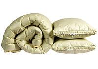 "Одеяло лебяжий пух ""Бежевое"" 1.5-сп. + 2 подушки 50х70, фото 1"