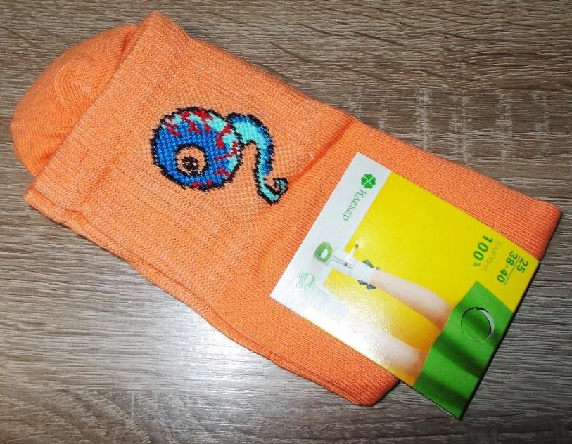 Носки теннисные с приколами размер 38-40 оранжевые