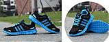 Кроссовки Sport черно-синие, фото 3
