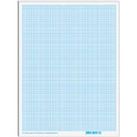 Папір масштабно-коорд. А2, 10 аркушів, в п/п пакеті, блакитний