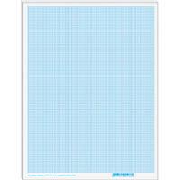 Папір масштабно-коорд. А3, 10 аркушів, в п/п пакеті, блакитний