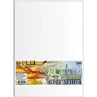 Папір для креслення А4 10 аркушів (200г/м2) AmberGraphic в п/п пакеті