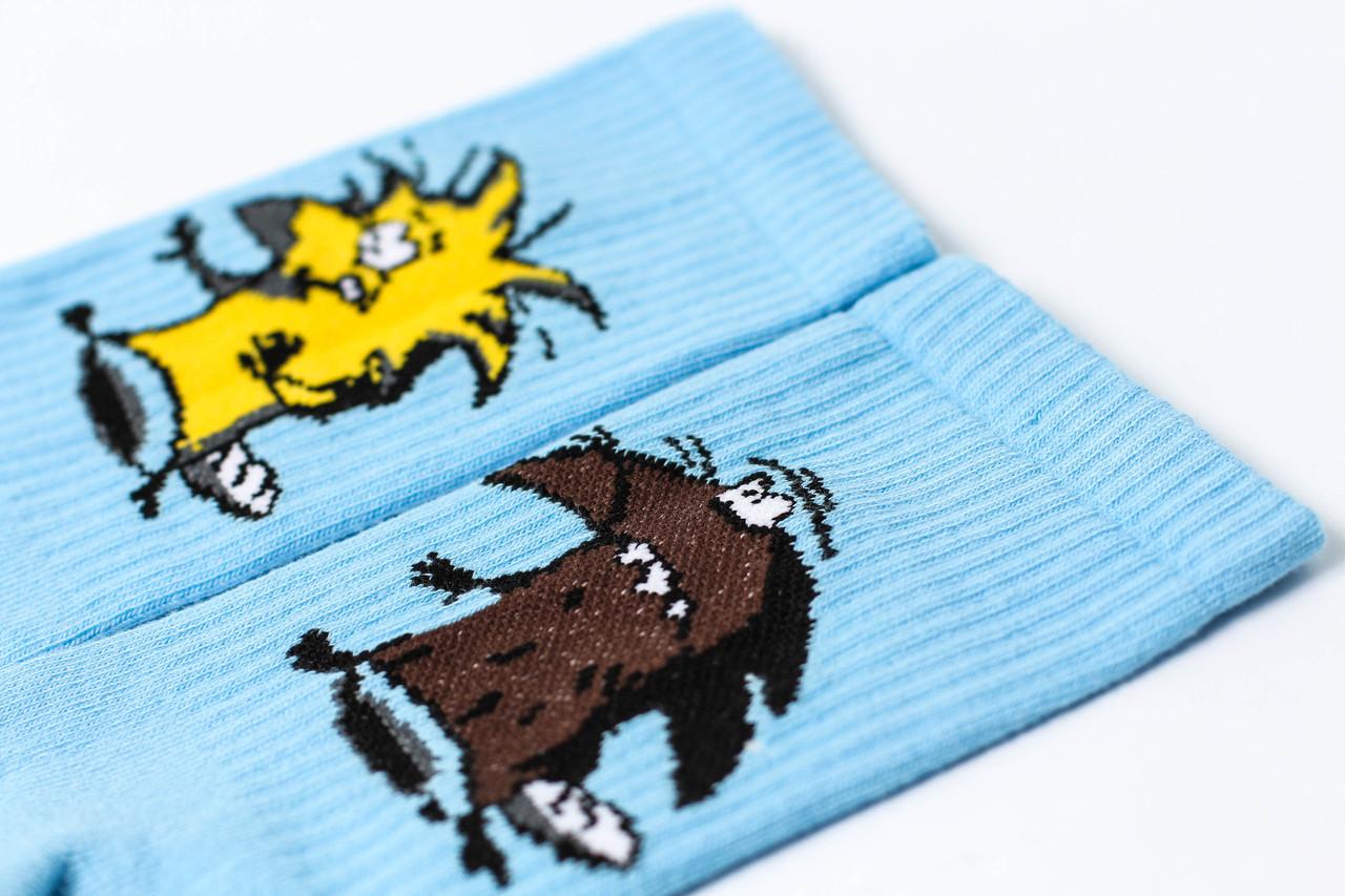 Женские носки LOMM Premium Бобры голубые