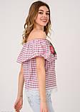 Блузы  5231  M бордовый, фото 2