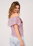 Блузы  5231  M бордовый, фото 3