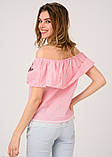 Блузы  5183  S розовый, фото 3