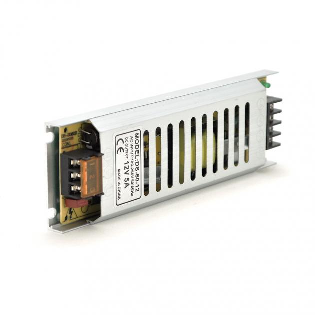 Импульсный блок питания NRU DS-60-12 12В 5А (60Вт) SLIM