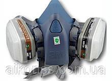 Комплект 7 в 1 Напівмаска респіратора серії 3M 7502 з усіма фільтрами
