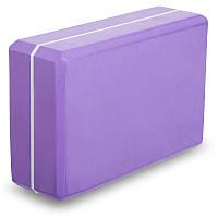 Блок для йоги двухцветный (EVA 120g, р-р 23х15х7,5см, цвета в ассортименте)