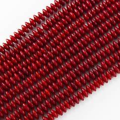 Бусины Monisto Натуральный Коралл 3х5мм Цвет: Красный около 159шт/нить