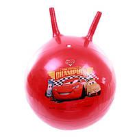 Мяч-Попрыгун для детей надувной, с двумя ручками из ПВХ диаметр 45-50см Тачки, Симба, цвет: красный - Simba