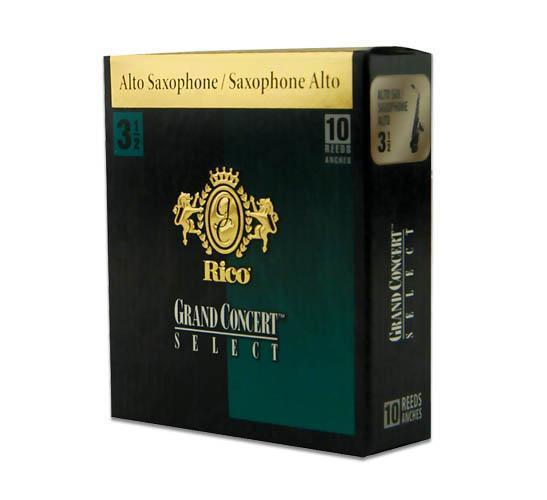 Трости для духовых RICO Grand Concert Select - Alto Sax #3.5 - 10 Box