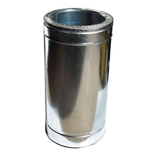 Труба дымоходная 0,5 м нерж/оцинк ø130/200 мм (толщина 0,6 мм)