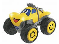 Детская Игрушка Машинка для мальчиков Джип на радиоуправлении желтая со звуковым и световым эффектами Chicco