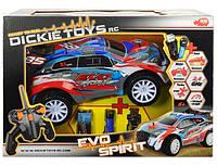 Детская Игрушка Для Мальчиков Автомобиль Эво Спирит на радиоуправлении со звуком и светом 29 см Dickie Toys