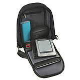 Городской рюкзак Bobby Mini однолямочный 10х19х30 защита от краж, USB-порт, чёрный водонепроницаемый ксНЛ1689ч, фото 5