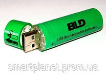 USB Аккумуляторы Li-ion 18650 (пальчиковый) 3,7v, емкостью 3800 мАч., фото 3
