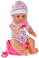 Детская Интерактивная Игрушка Кукла Пупс в комбинезоне с соской и горшком 30см New Born Baby Simba Симба