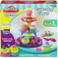 Детский Игровой Набор Для Девочек Башня из кексов с 5 банками пластилина Плей До Sweet Shoppe Play Doh